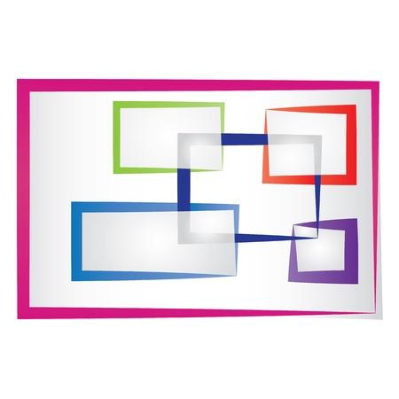 Set von abstrakten farbigen Rahmen.