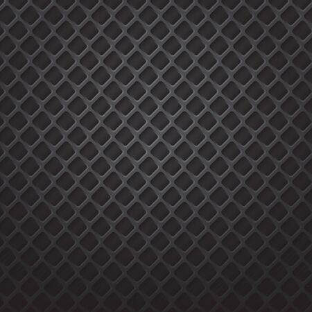 aperture grid: square black metal grill illustration