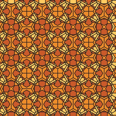 stained glass panel: Abstract mosaic stained glass background  illustration Illustration