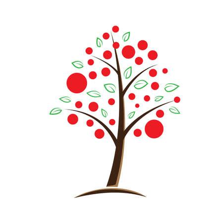 apple tree symbolic vector illustration Stock Vector - 12041882