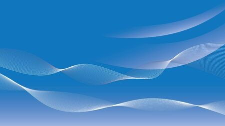abstract blue wavy background vector illustration Illustration