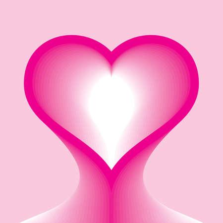 heart form head abstract vector illustration  Stock Vector - 12041885