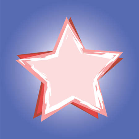 Red star on blue background. Vector illustration. Stock Vector - 12175588