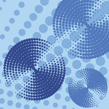 reiteration: Abstract blue circles background. Vector illustration. Illustration