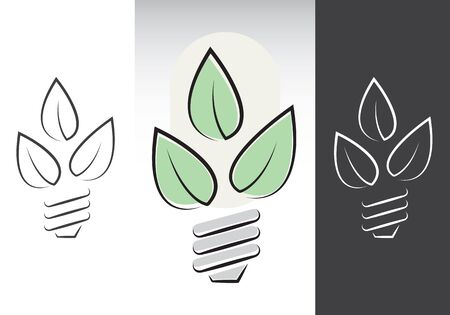 Green energy light bulbs symbols. Vector illustration. Stock Vector - 12346104
