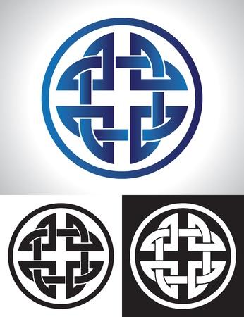 celtic tattoo: Quaternary Celtic Knot vector illustration.