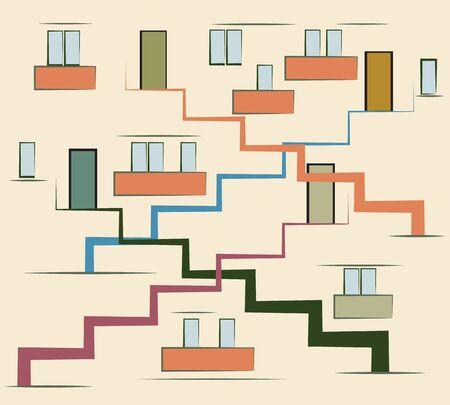 Abstract  multi storey building, modern urban concept vector illustration Stock Vector - 12772803
