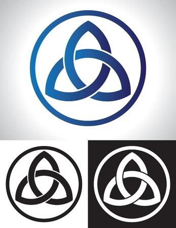 ケルトの三位一体の結び目のベクトル イラスト。