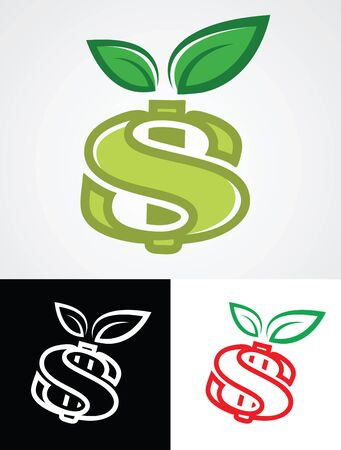 Apple Symbol as Dollar Sign finance concept vector illustration.  Stock Vector - 16692930