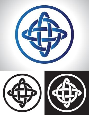 Quarternary celtic knot design vector illustration. Stock Vector - 17124028