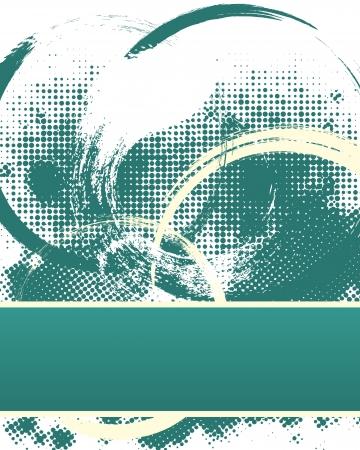 Dunkle Halftone Grunge Hintergrund Vorlage mit Text Platz.