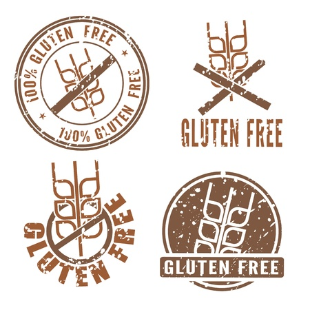 Gluten Free Stamps with cereal eye symbol Stock Vector - 17728423