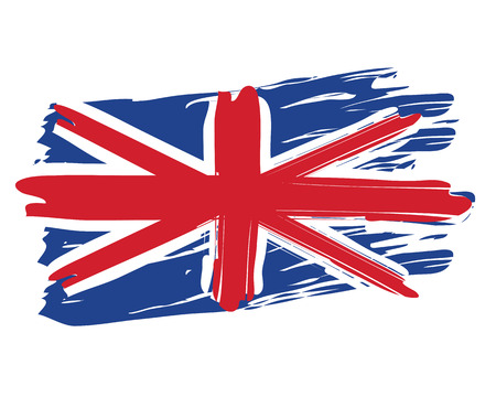 그린 영국 국기 일러스트