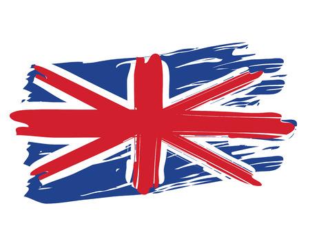 Drapeau national britannique peint Banque d'images - 22427255