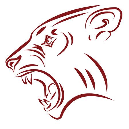 garra: agresivo tatuaje wildcat