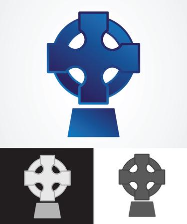 celtic symbol: Ancient Celtic Cross Symbol. Vector illustration.