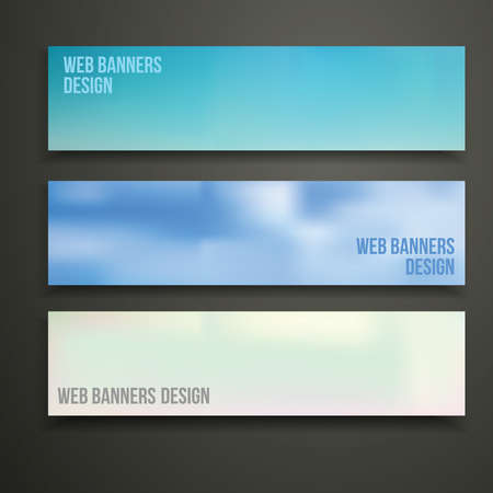 web site design template: Web banners design template for site vector illustration.