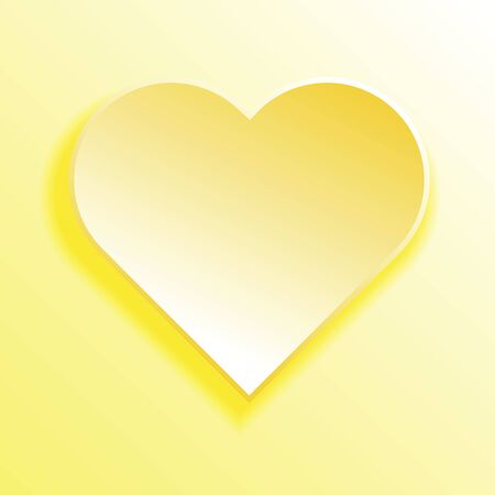 yellow heart: Yellow heart symbol festive card vector illustration. Illustration