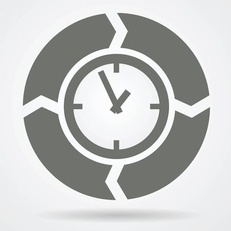 o'clock: Time cycle web icon vector illustration.