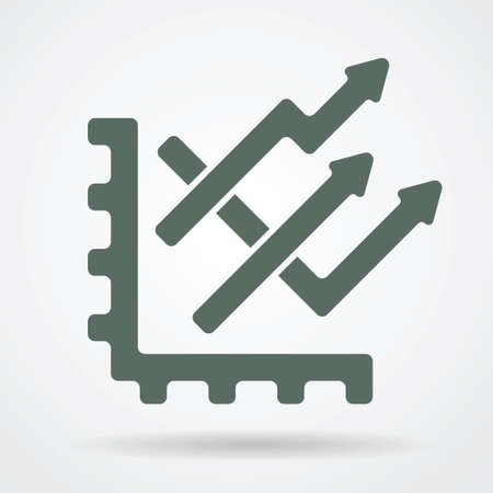 graph trend: Graph trend web icon vector illustration.