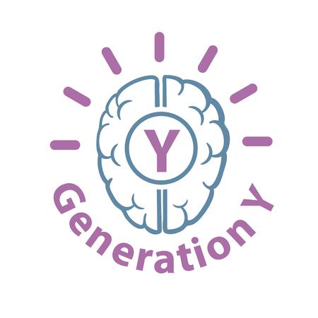 new generation: Genaration Y web icon vector illustration.