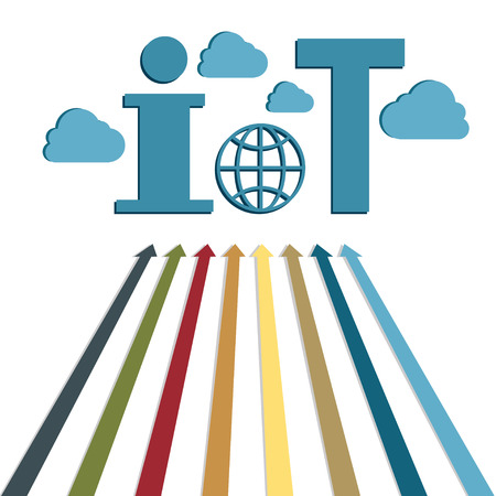Internet of things IoT web technology vector illustration.