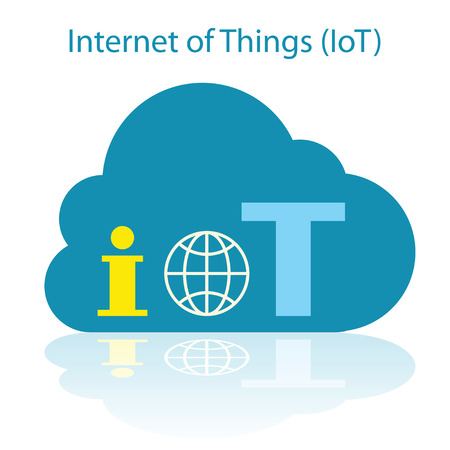 Internet der Dinge Wolke Symbol Vektor-Illustration. Illustration