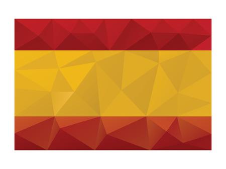 bandiera spagnola: Bandiera spagnola low poly disegno vettoriale gradienti illustrazione.