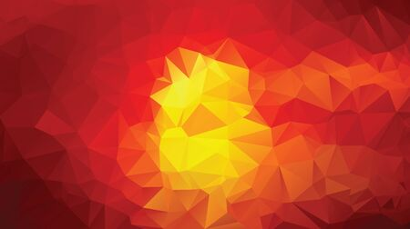 yellow red: yellow red dark abstract low poly design vector background illustration Illustration