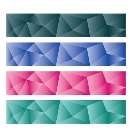 banner orizzontali: astratto banner orizzontale illustrazione vettoriale modelli