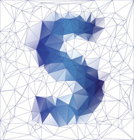 lettre s: R�sum� lettre congel�es S low poly gradient de conception vecteur de EPS10 illustration.