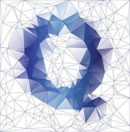 letter q: Abstract Frozen letter Q low poly design gradient EPS10 vector illustration. Illustration