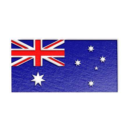 sidney: Australian flag isolated on white stylized illustration.