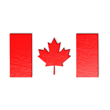 canadian flag: Canadian flag isolated on white stylized illustration.