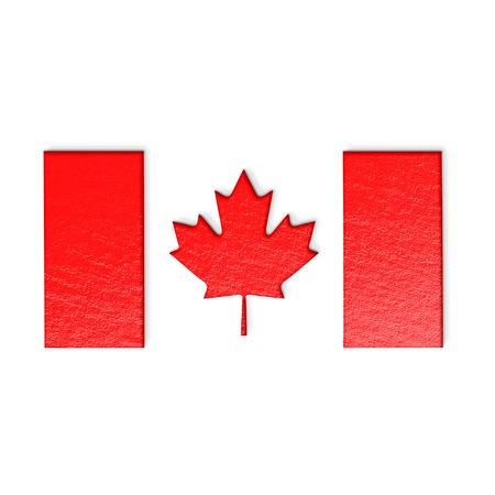 canadian flag: Canadian flag isolated on white stylized illustration.