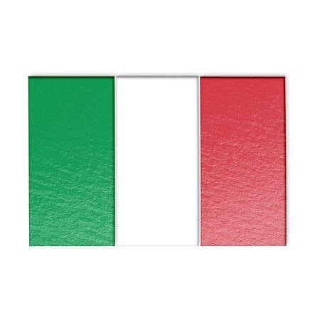 italia: Italia flag isolated on white stylized illustration.