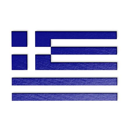 greek flag: greek flag isolated on white stylized illustration.