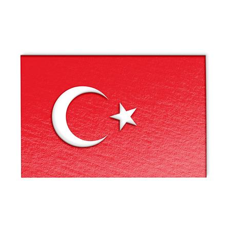 turkey flag: turkey flag isolated on white stylized illustration.