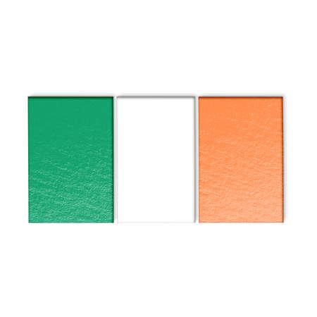 irish flag: Irish flag isolated on white stylized illustration. Stock Photo