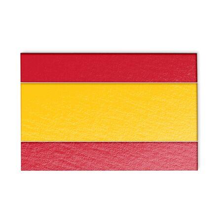 patriots: Spanish flag isolated on white stylized illustration. Stock Photo