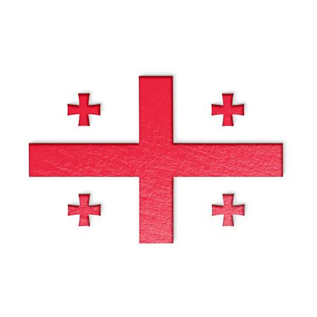 georgian: georgian flag isolated on white stylized illustration.