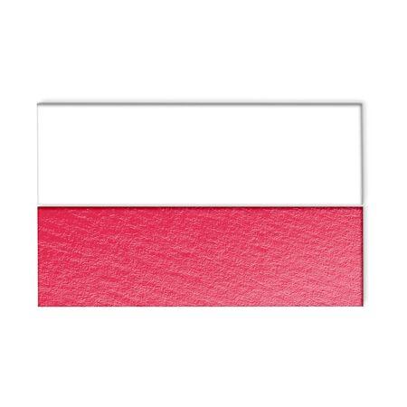 bandera de polonia: bandera polaca aislado en blanco Ilustraci�n estilizada.