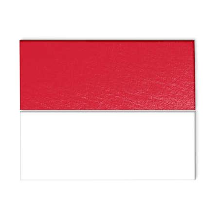 monaco: monaco flag isolated on white stylized illustration.