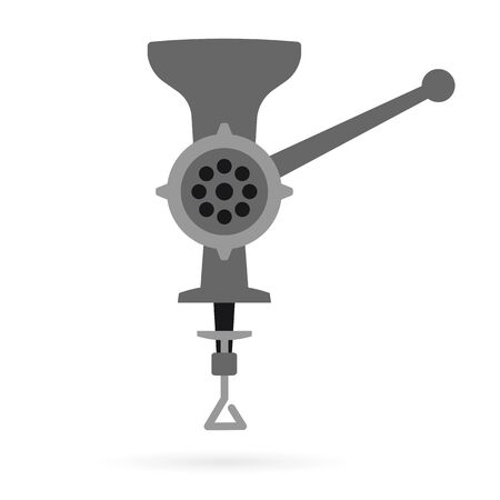 retro meat grinder front view vector illustration