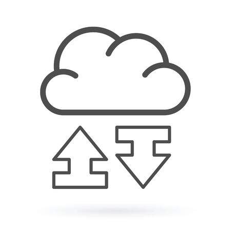 data exchange: Data exchange service cloud computing icon vector illustration.