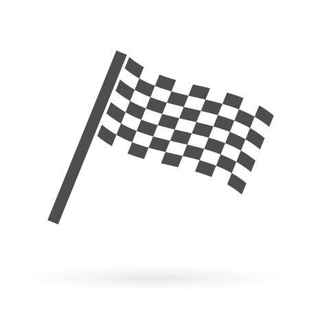 racing checkered flag crossed: finish flag icon design isolated vector illustration