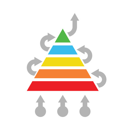 cause marketing: solution optimization concept abstract pyramid vector illustration