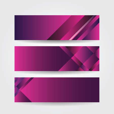 horizontal: horizontal purple banners vector illustration
