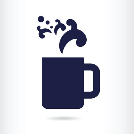 coffee icon: office coffee cup icon  Illustration