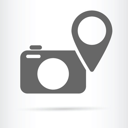 digital camera: digital camera geo targeting icon